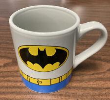 Batman Ceramic Coffee Mug Gray & Blue Retro Design Dc Comics, Pre-Owned No Chips