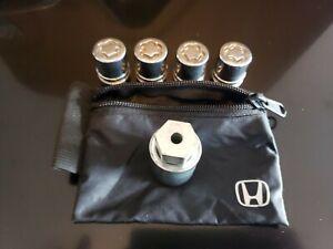Genuine Honda Wheel Lock Set 08W42-SNA-101, Fits all Hondas with 19mm lug nuts