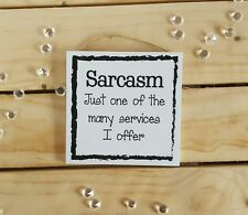 FUNNY QUOTE BEDROOM PLAQUE SIGN GIFTS PRESENT SARCASM CHRISTMAS FRIENDS FAMILY