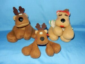 Hallmark Rodney Rhonda & Randy Reindeer Bean Bag Plush