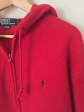 Ultra Rare Vintage  Fleece  Winter '98 Polo By Ralph Lauren  Hoodie Zip Up