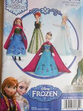 "Simplicity Frozen Elsa Anna Doll Clothes Pattern 11 1/2"" Fashion Dolls 1234"