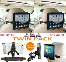 Universal In Car Back Seat 2 Headrest Mount Holder Cradle for All iPad Tablets