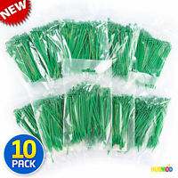 """1000 4"""" Inch Long 18# Pound Zip Tie Nylon Cable Green Ties Wraps MADE IN USA"""