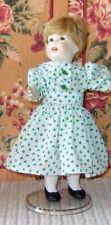 """Bleuette Handmade Outfit, """"Poids Plume"""" Green Print 1918 Dress-Gautier-Langereau"""