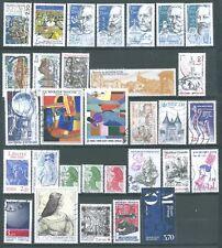 timbres france 1986  (31 oblitérés)