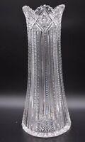 "J Hoare Corning American Brilliant Period ABP Crystal Plume 12 1/2"" Vase"