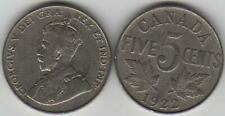 1922 Canada Five Cents Coin. George V Canadian Nickel