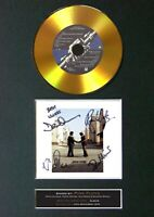 #151 PINK FLOYD Wish You Were Here GOLD CD Signed Autograph Mounted A4