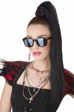 Black Dominatrix Ponytail Hairpiece Braided Bun Cover Mistress Fetish Vamp Diva