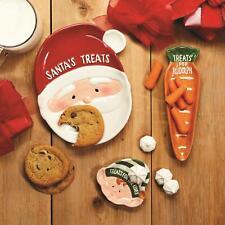 Two' Company Holiday Treats Set of 3 Tidbit Plates in Gift Box