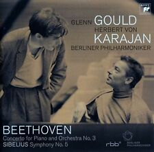 GLENN GOULD - BP, KARAJAN : BEETHOVEN: CONCERTO.., SIBELIUS: SYMPHONY NO. 5 / CD