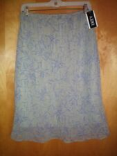 NWT NEW womens juniors size L XL green purple watercolor A BYER skirt