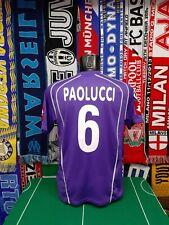 Maglia Calcio Fiorentina Home 2005/06 Paolucci Match Worn/Preparata V Treviso