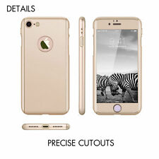 Hybrid 360° Hard PC Ultra thin Case +Tempered Glass Skin Cover For iPhone 7 4.7""