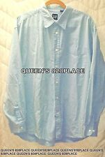 Gap Men's Size XL Cotton Blue & White plaid Button Down Shirt Long Sleeve D8288