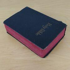1935 Leather Vintage Pocket Bible KJV Self-Pronouncing World Publishing Gifted