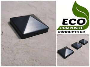 SADDAR ECO COMPOSITE PLASTIC FENCE POST CAPS - PYRAMID SQUARE
