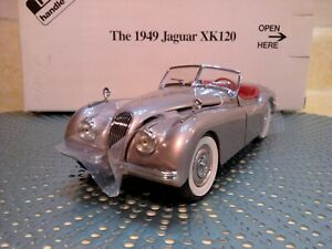 DANBURY MINT 1949 JAGUAR XK120..1:24...NEW IN BOX..UNDISPLAYED..PERFECT PAINT