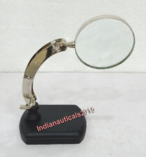 Nautical Magnifying Glass Adjustable Stand Office Desktop Table Decor