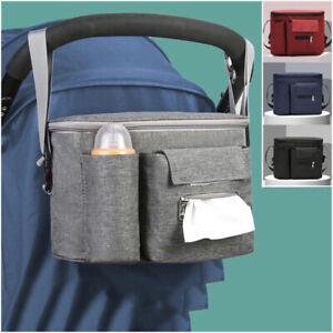 Baby Buggy Stroller Organiser Pram Pushchair Storage Bag Cup Holder Mummy Bag UK