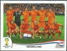 PANINI WORLD CUP 2014- #128-NEDERLAND-HOLLAND TEAM PHOTO