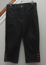 Not Your Daughters Jeans Size 6 Cropped Capri NYDJ Dark Wash Lift Tuck