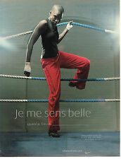 PUBLICITE ADVERTISING 045  2003  NIKE WOMEN  vetements de sport  KIK BOXING