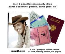elvis Presley 105 protège carte grise permis passeport passport cover