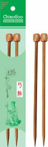 ChiaoGoo 13in (33cm) Bamboo Straight Knitting Needles