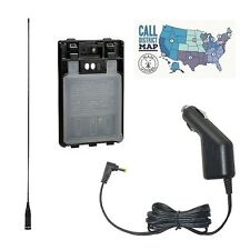 Yaesu FT-1XD Radio Acc. Bundle -- w/ Hi-Gain Ant., AA Bat. Case, & Cig Adapter!!