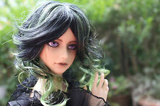 Dollfie BJD SD wig Perücke Monique size 8-9 black green