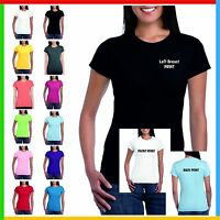 LADIES PERSONALISED PRINTED T-SHIRTS *Design Your Own T Shirt* CUSTOM TEE