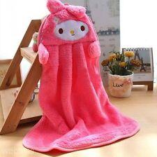 serviette essuie main polaire rose enfant cuisine décor serviette fantaisie