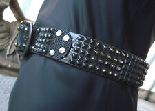 Mike Amiri JADED by KNIGHT Stingray Leather Studded Crystal Belt ~ 32 RARE