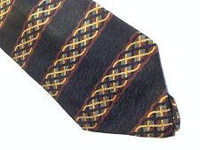 Mens Black Red Gold SILK Tie Necktie CLAIBORNE~ FREE US SHIP (9020)