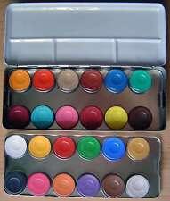 24 Farben Kinderschminke*Eulenspiegel*Profi-Schminke*Metallpalette
