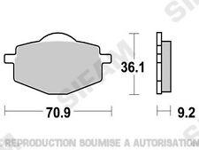 Plaquettes de frein arrière Yamaha XTE 600 1989 à 2003 (S1081)