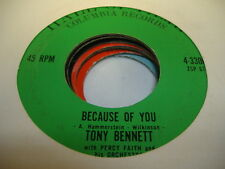 Rock 45 TONY BENNETT Because Of You on Columbia