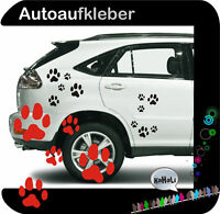 Hundepfoten Tatzen Autoaufkleber Aufkleber Sticker A60