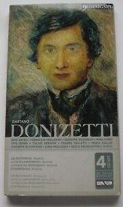 LIKE NEW:DONIZETTI / LIFE AND WORK - 4 CD SET WITH BOOKLET - FREE P&P UK