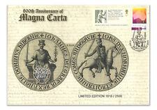 2015 AUSTRALIA 800TH ANNIVERSARY MAGNA CARTA PNC STAMP AND £2 POUND COIN COVERS