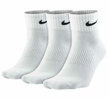 Nike Performance Calcetines de Algodón Claro Unisex Cuarto 3pairs Blanco Gb