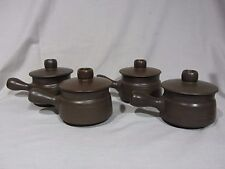"Denby Langley ""Arabesque"" Brown Individual Covered Casserole Dishes - Set of 4"