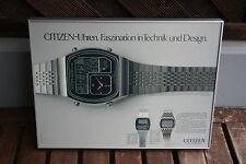 Citizen-Uhren Faszination in Technik und Design Werbung Reklame   -70er/80er-