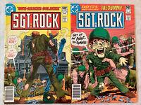 SGT Rock 348 & 349 (DC 1981) Joe Kubert Cover VF+