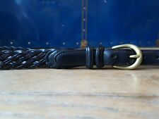 """COACH Woven Braided Leather Belt Brown and Black Size 42"""" Exquisite Designer"""