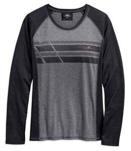 Harley-Davidson Top Performance Wicking Long Sleeve Gray Women's Shirt
