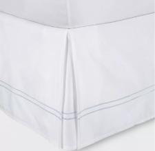 "Fieldcrest Hotel Sateen Bed Skirt, White, California King, 15"" Drop"