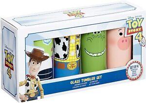 DISNEY TOY STORY GLASS TUMBLER SET OF 4 BRAND NEW UK SELLER